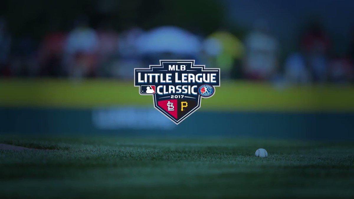 Major Leaguers on Little League's biggest stage.  Cardinals vs. Pirates. Tonight at 7 p.m. ET on ESPN. https://t.co/2STvU1FptK