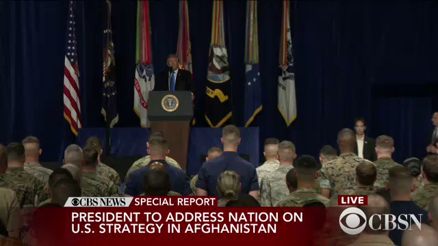 WATCH LIVE: President Trump addresses the nation on new Afghanistan strategy