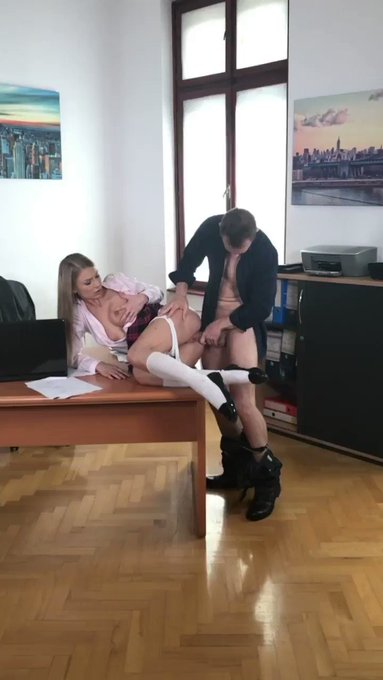 Having a #quickie on the desk @lucyheart_x & @ERIK_EVERHARD 🔜 on https://t.co/gCU1SM5aKT https://t.c