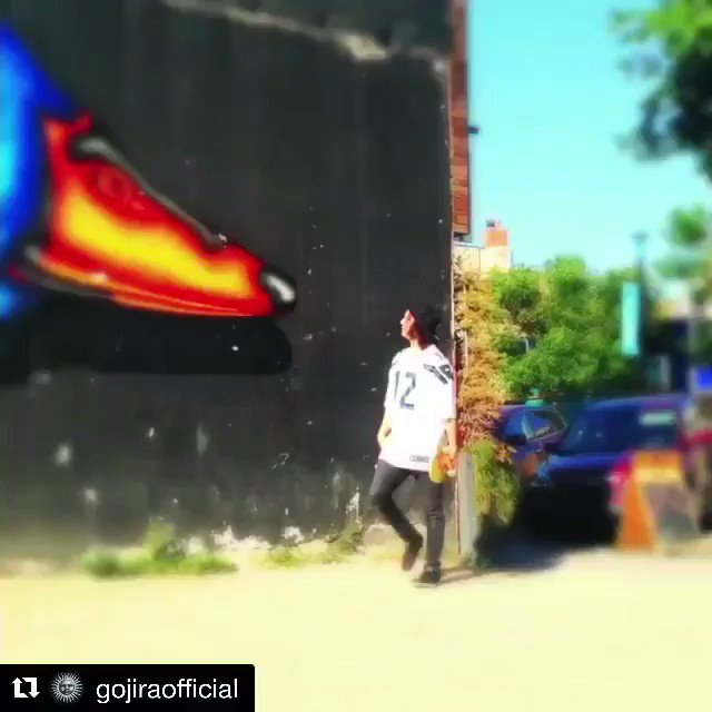 @GojiraMusic #evilmario #48 #wormy skateboarding by @gojimitch @pallbearerdoom @avengedsevenfold https://t.co/7wd8LS9rgC