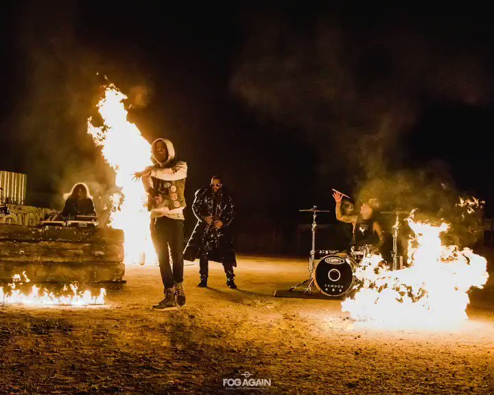 Video for #PUNK with my brothers @yelawolf @kleversworld @juicyj  #TRIALBYFIRE �� @fog.again https://t.co/dtxsB57Efv