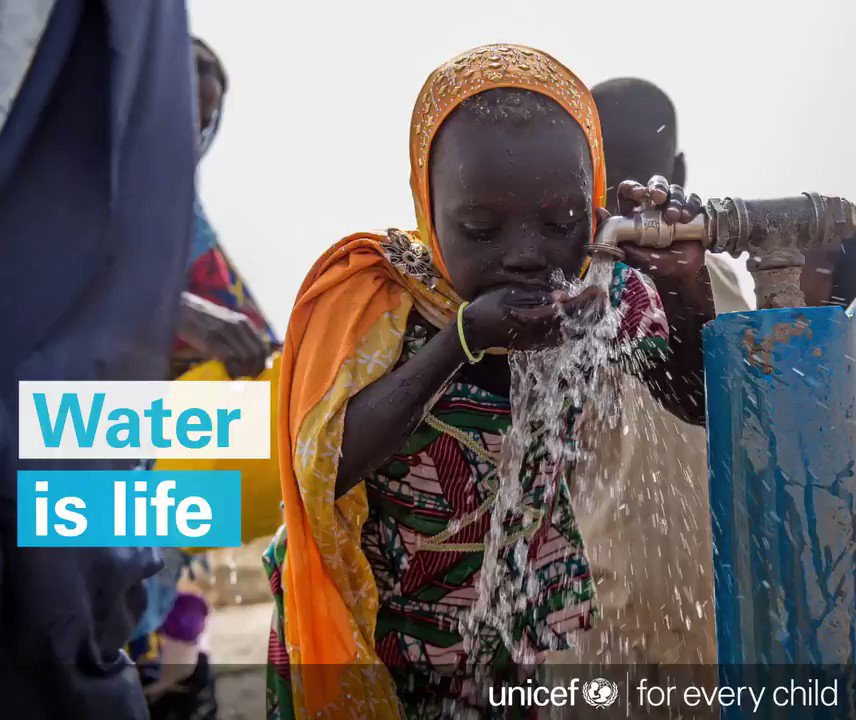 RT @UNICEF: Children need access to clean water. Their lives depend on it. #WWWeek ???? https://t.co/u8QaAHfqzk