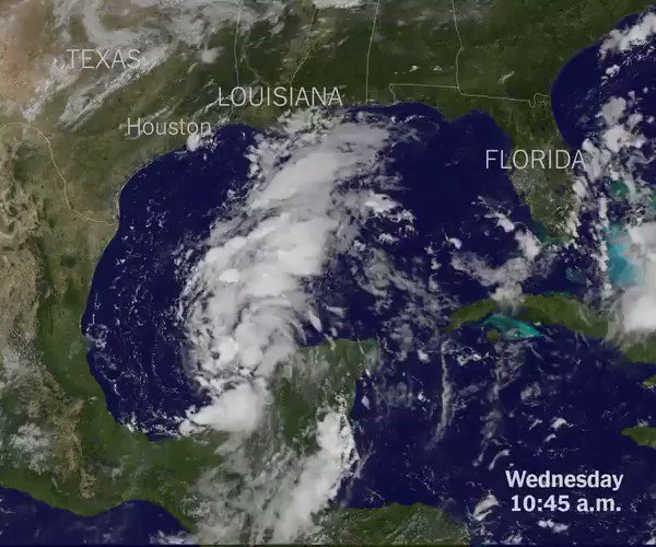 Satellite imagery of Harvey's path shows clouds hanging over Houston for days. https://t.co/0eFyv3RIby https://t.co/QXGvemIruc