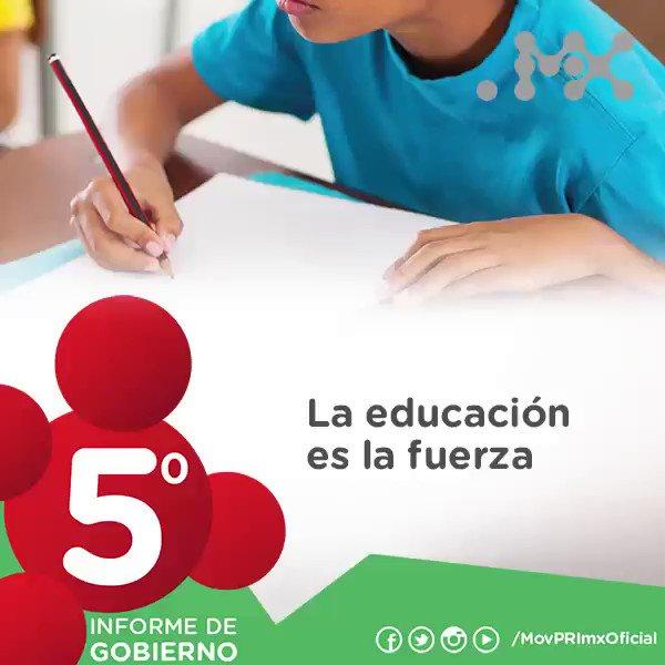 El gobierno del presidente @EPN, Trabaja por un México con Educación de Calidad. #5toInforme #NuevoModeloEducativo https://t.co/tBDGCn2gD9