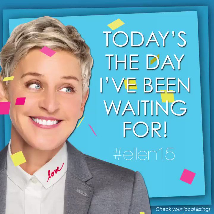 Season 15 starts today! This is gonna be a lot of fun. #ellen15 https://t.co/32d6sFQ28I
