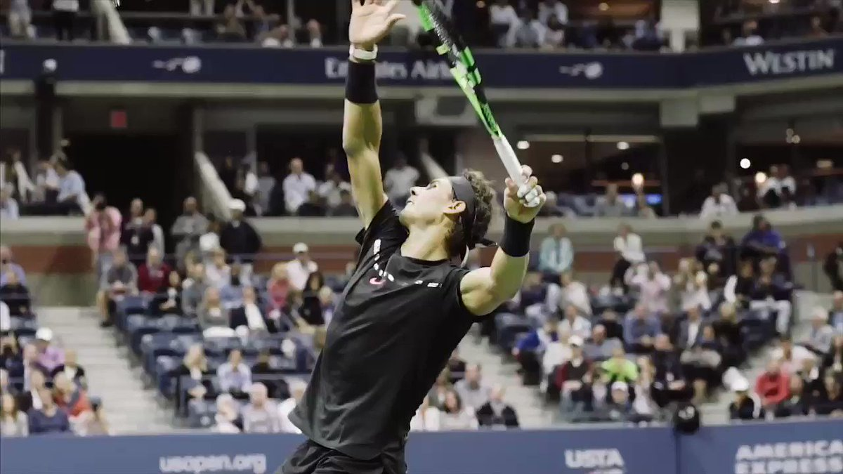 Match point. Always a special feeling and a tough one! #USOpen https://t.co/UpGRCTf9hD