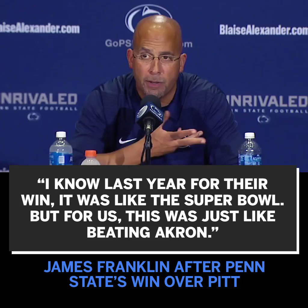 James Franklin brought the heat: https://t.co/3CprVDunBt