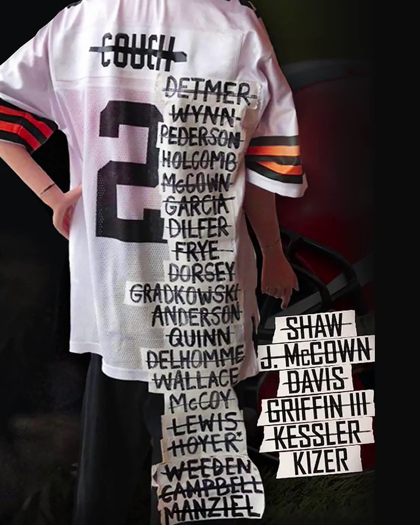 For the sixth consecutive year, the Browns are starting a new QB. https://t.co/vRqf6Unuwo