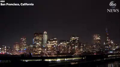 WATCH: Slow-motion video shows lightning illuminate the San Francisco skyline: https://t.co/n64GE8wWOJ https://t.co/N6BPlc3xoa