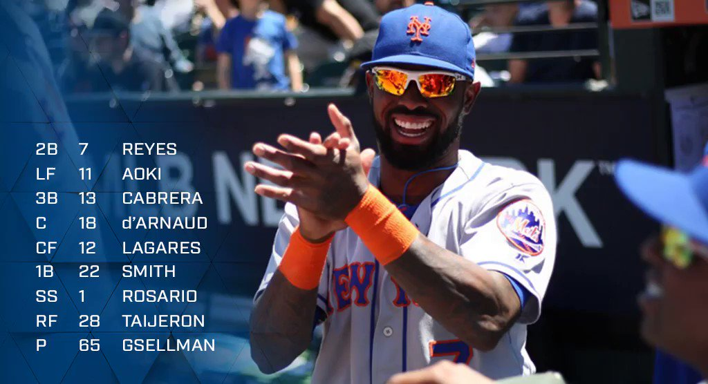 Here's how we line up for the series opener. #LGM https://t.co/amuJM8fyNG