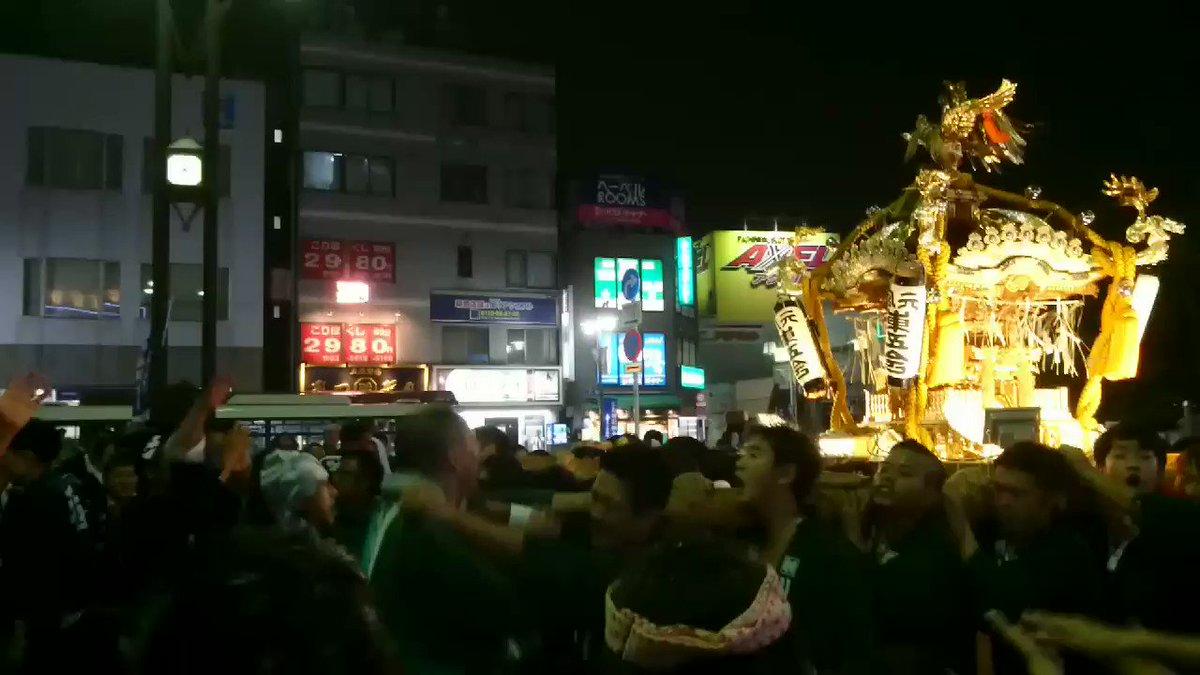 亀有の駅前はこんな感じ🙌今日と明日は1年で一番楽しい祭りだぜぇ~#香取神社 #こち亀