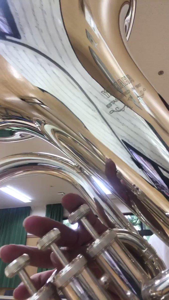 WINSスコアの「君の名はメドレー」のユーフォソロを中途半端な出来ですが吹いてみました!無伴奏ソロとかほんとに最高です🤤