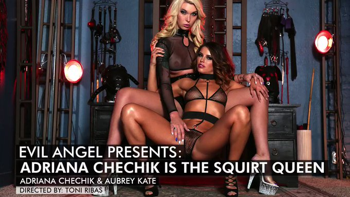 How slutty can we get? @AUBREYKATEXXX Watch it now! @EvilAngelVideo #squirtqueen https://t.co/WymnvS