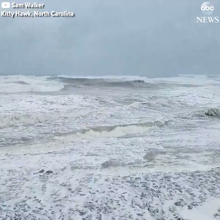 Rough waves pound the beaches of North Carolina's Outer Banks from Hurricane Jose. https://t.co/1s6KEFvsRr https://t.co/EllUhRptdc