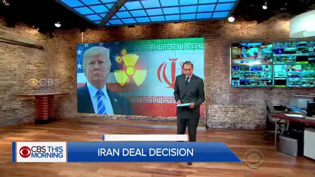 CBS News has learned Pres. Trump is leaning toward decertifying the Iran nuclear deal