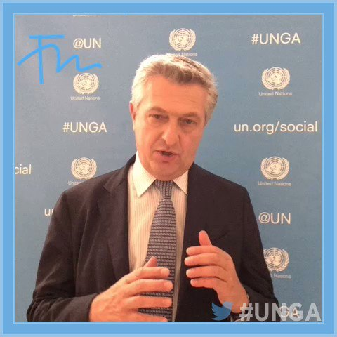 At #UNGA @RefugeesChief is asking world leaders to stand #withRefugees https://t.co/ycHSLix7Ln