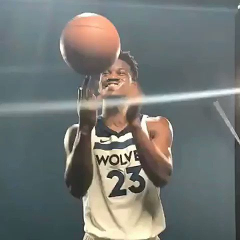 Jimmy Buckets!  @JimmyButler rockin' his new @Timberwolves threads at #WolvesMediaDay! https://t.co/Gy8A4gflc2