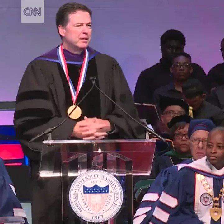 Howard University students protest former FBI Director James Comey's keynote address https://t.co/TQAanviVAx https://t.co/DGhfaNWq8t