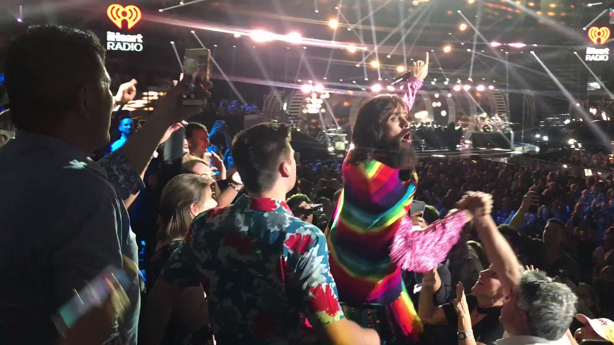 RT @iHeartRadio: That moment when @30SECONDSTOMARS  shows up at your seat!! #iHeartFestival ❤️❤️ https://t.co/IRjpd8hbre