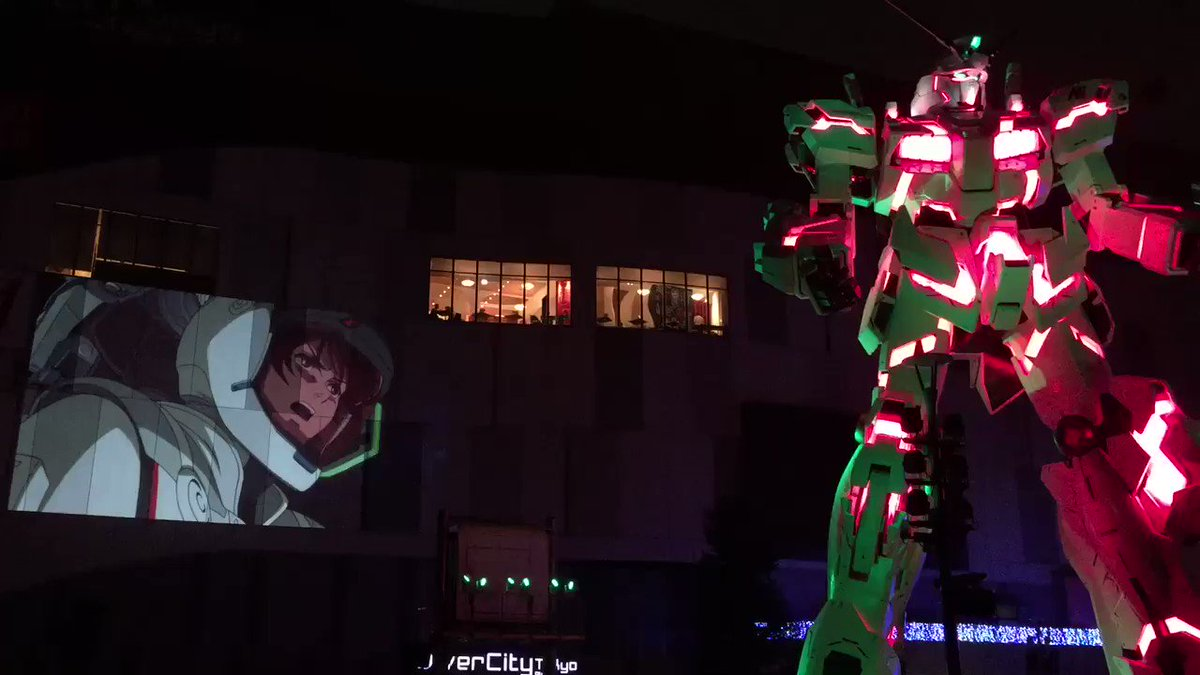 夜間演出『機動戦士ガンダムUC RE:MIX0096』続きです。RE:0096のダイジェスト映像でOP曲の「Into t
