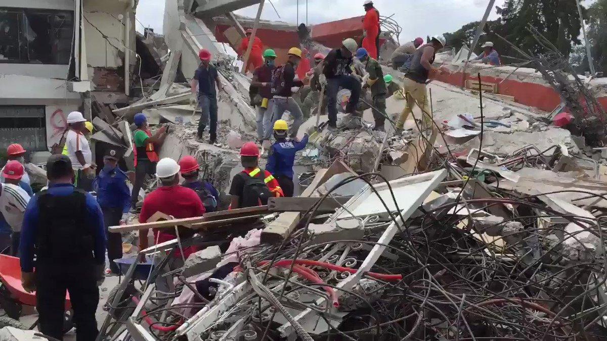 Through debris and rubble, Mexico's frantic search for earthquake survivors