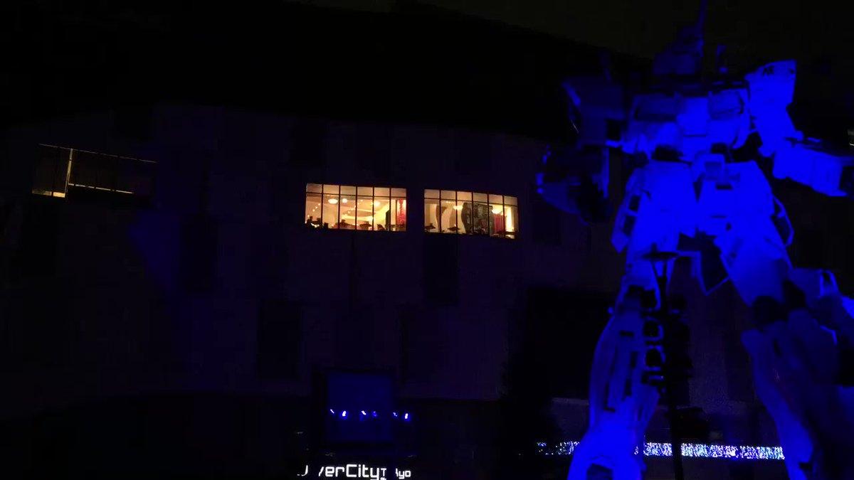 """夜間演出『機動戦士ガンダムUC SPECIAL MOVIE""""Cage""""SawanoHiroyuki[nZk]:Tiell"""