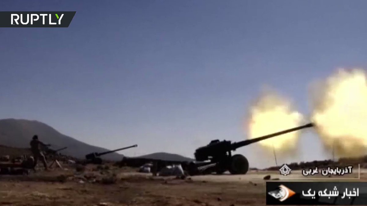 VIDEO: Iran holds artillery drills held near Iraq border ahead of Kurdish