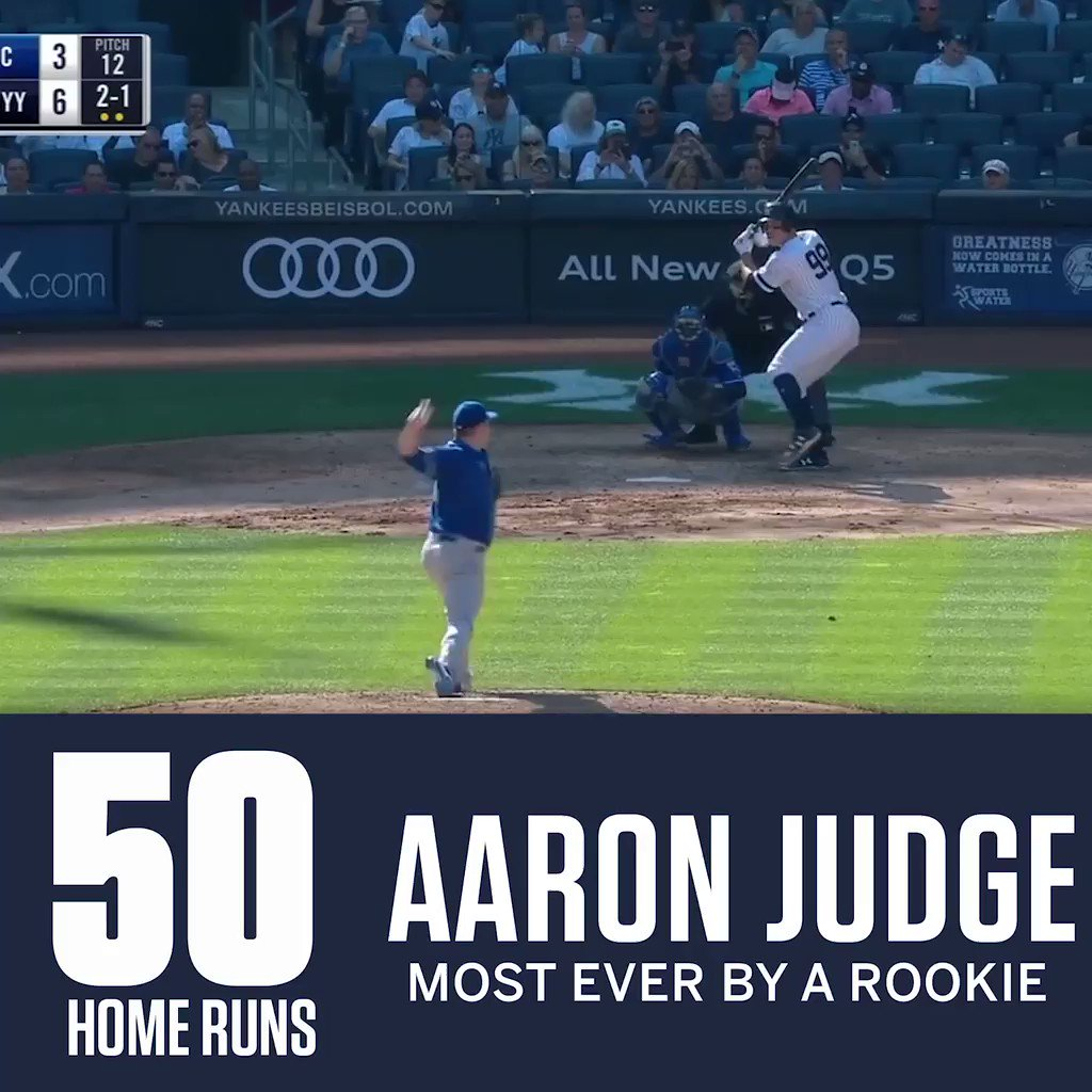 Aaron Judge stands alone. https://t.co/8oHJp3Rib3