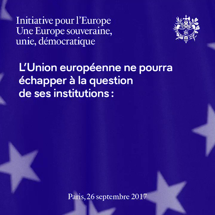 L'Union européenne ne pourra échapper à la question de ses institutions. #InitiativeEurope https://t.co/7mVLIP96bs