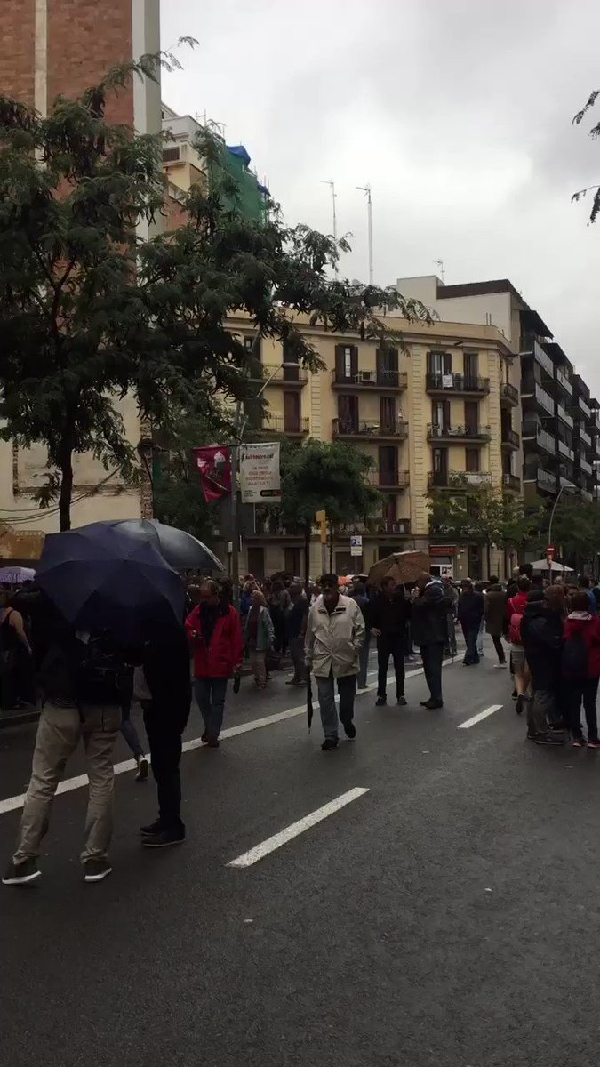 RT @CataloniaHelp2: A crowd waiting to vote in #Barcelona https://t.co/i2xKuQiGc6