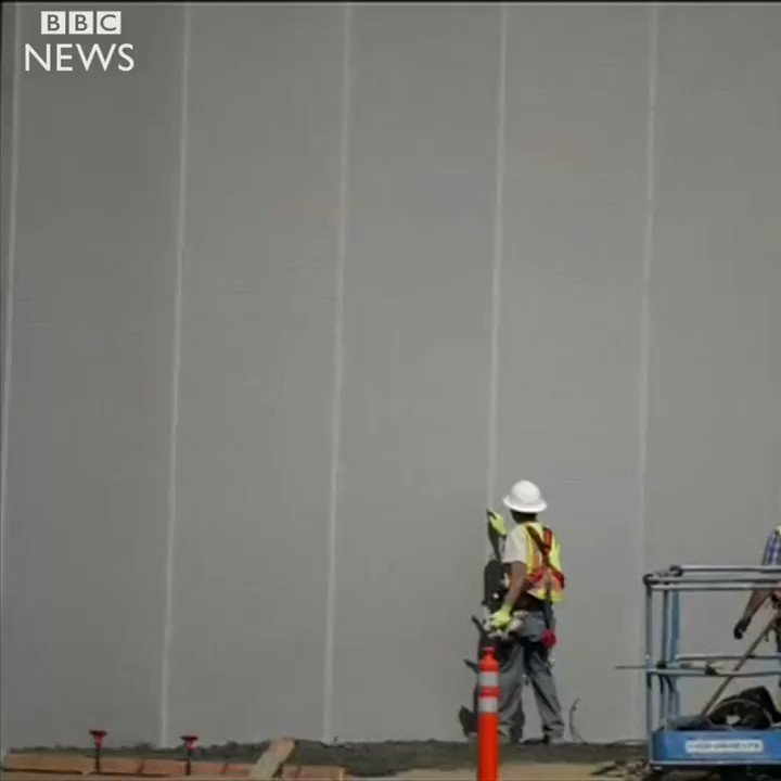 Prototypes of Donald Trump's US-Mexico border wall have appeared in California