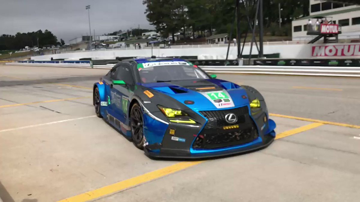 Just before full course caution: @Ijracer1 in for @SageKaram. #LexusPerformance #MotulPLM #slowmo https://t.co/N6qaI7DmLQ