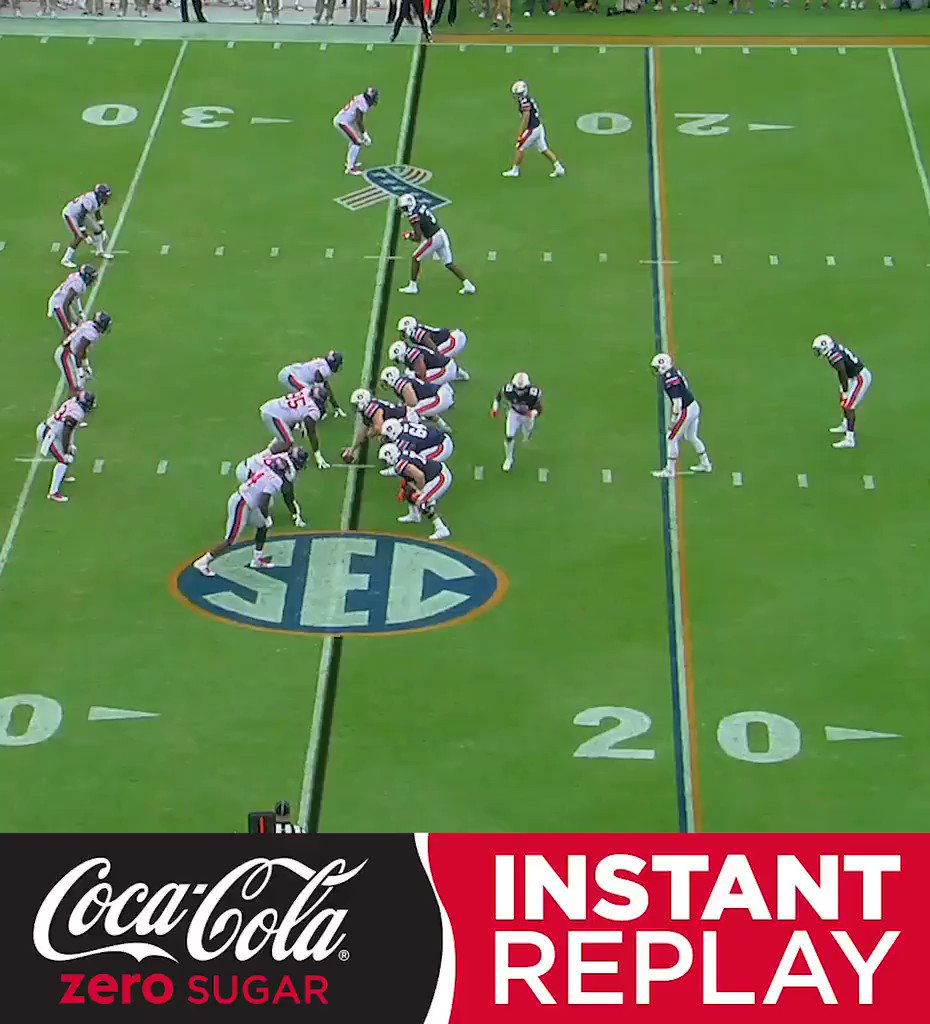 He just kept going and going and going ...  Watch this long and winding Auburn TD in the @CocaCola Instant Replay. https://t.co/ww0ouhrw8H