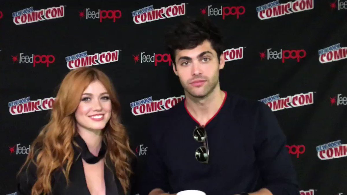 .@Kat_McNamara & @MatthewDaddario have a special message for the fans. �� #ShadowhuntersNYCC #NYCC https://t.co/gXgUe5dcfj