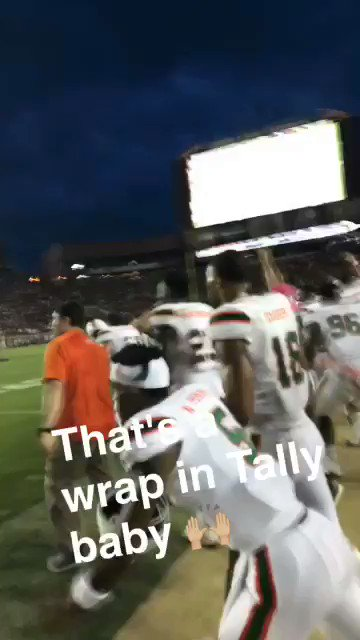 Truly never have had a better feeling than that W 🙌🏼  It's so great to be a Miami Hurricane https://t.co/diZsTCFTOm