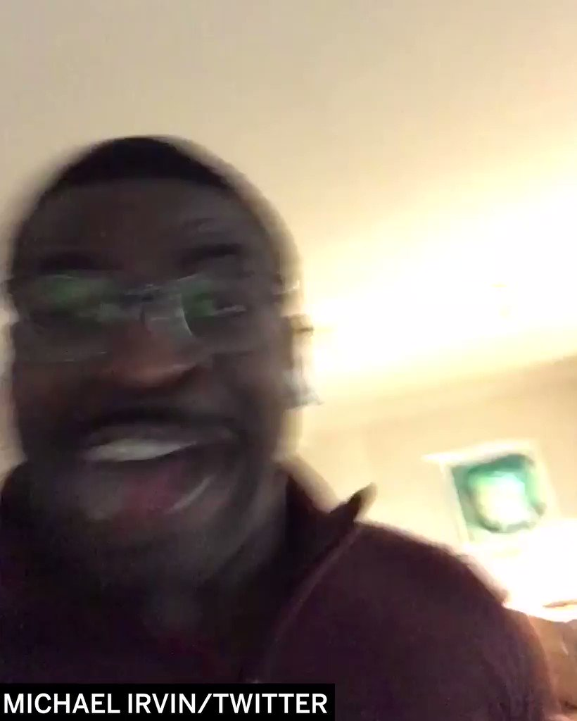 Michael Irvin is REALLY happy Miami beat Florida State. (via @michaelirvin88) https://t.co/2RDT514ULh