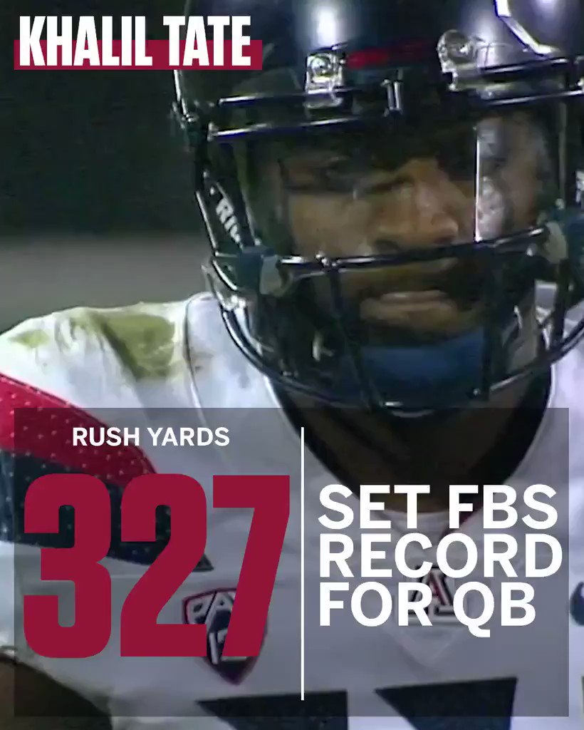 327 rush yards and 4 TDs on just 14 carries!?  You might want to get to know Arizona's Khalil Tate ... https://t.co/a9uT3PFyEx