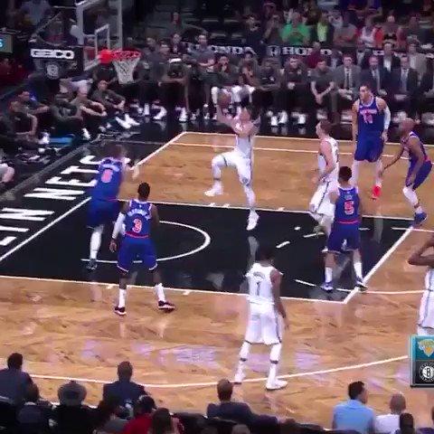 Porzingis swat, Hardaway Jr. alley-oop.  Knicks season preview ⤵️ https://t.co/hjZX5AEcf6