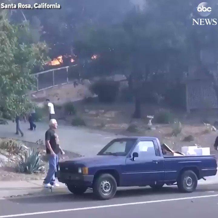 WATCH: Family loads possessions into truck as wildfire bears down on Santa Rosa, California: https://t.co/EaSKacLdQg https://t.co/ZYN9e8V6YM