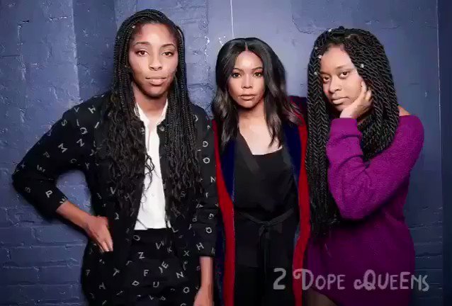 3 Dope Queens! Ok @2DopeQueens & the chick from Bring It On who now has lower back pain. https://t.co/dWdIwz28Hp https://t.co/JCAp1jAqiu