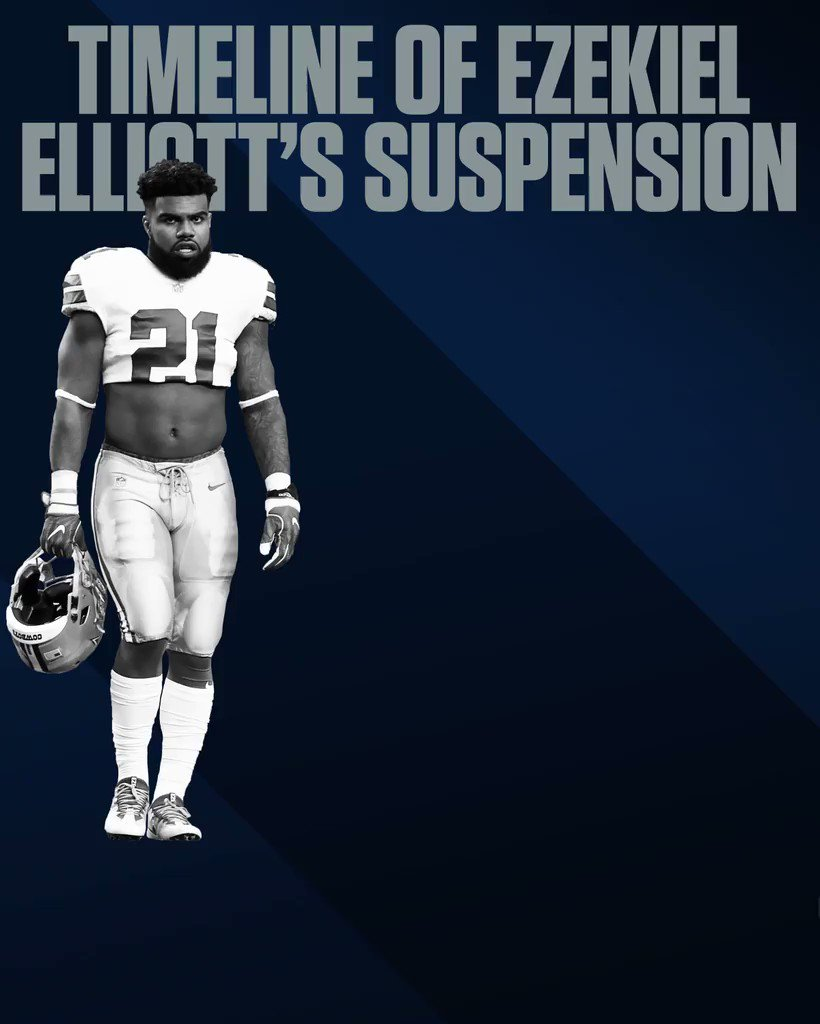 The path to Zeke Elliott's suspension has been a long and winding road. https://t.co/BCZiOty0Ji