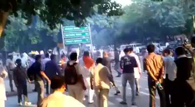 Video: Fringe Hindu group bursts crackers outside SC to protest against ban on sale during Diwali, detained