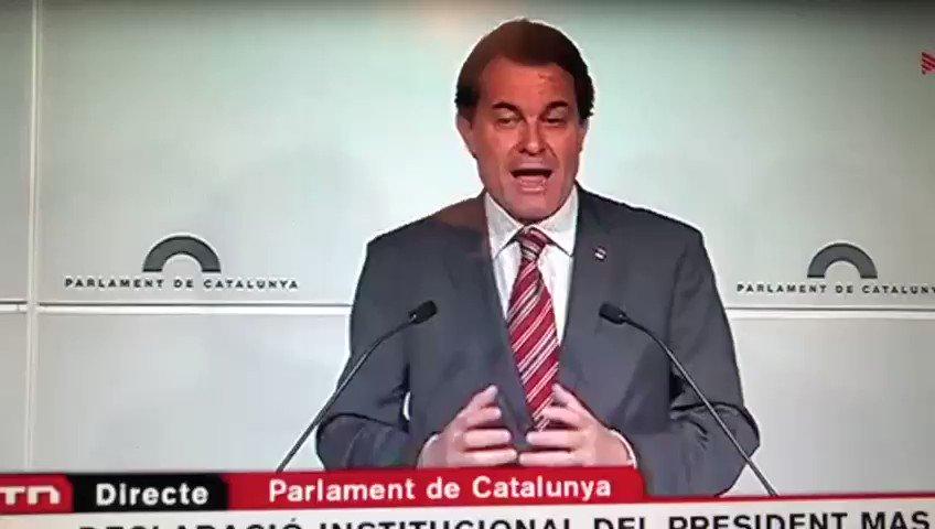 📢📢📢📺📺 Periodistas y ciudadanos en general, no os perdáis al gran Artur Mas. ¡Retuitea y que lo vea toda España!