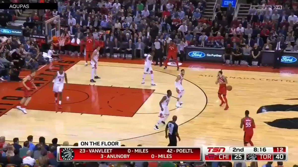 CJ Miles on Fire🔥 from deep! #WeTheNorth #RaptorsFastBreak #CJMiles #3pointers #FastBreak https://t.co/8rdKUvX5TZ