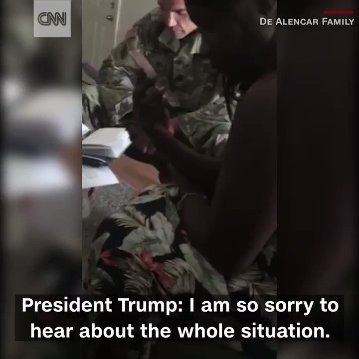 An American soldier's widow has shared details of her call with Trump in April https://t.co/8sjVRvC8U8 https://t.co/Jmg66OnEvZ