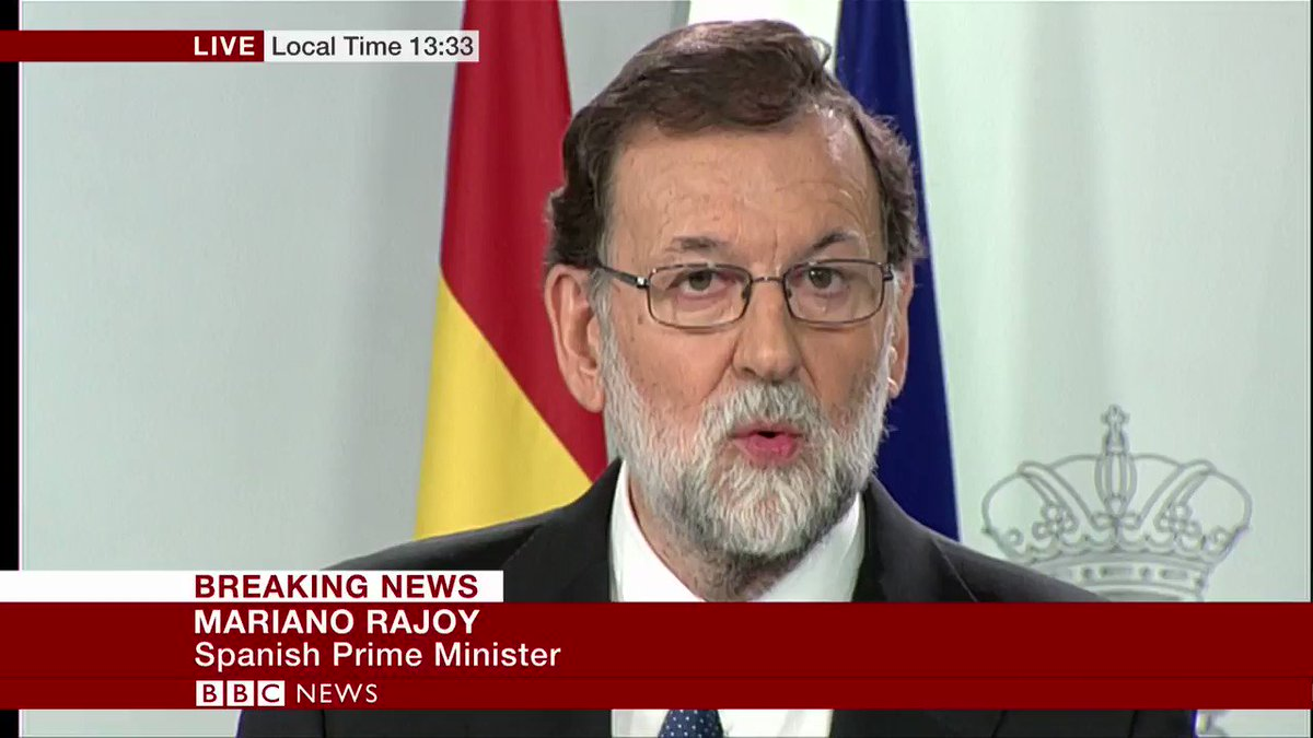 Spain's PM Mariano Rajoy unveils plans to curb powers of Catalan government https://t.co/0vMMTK8oCQ https://t.co/KbKgHnqPv1