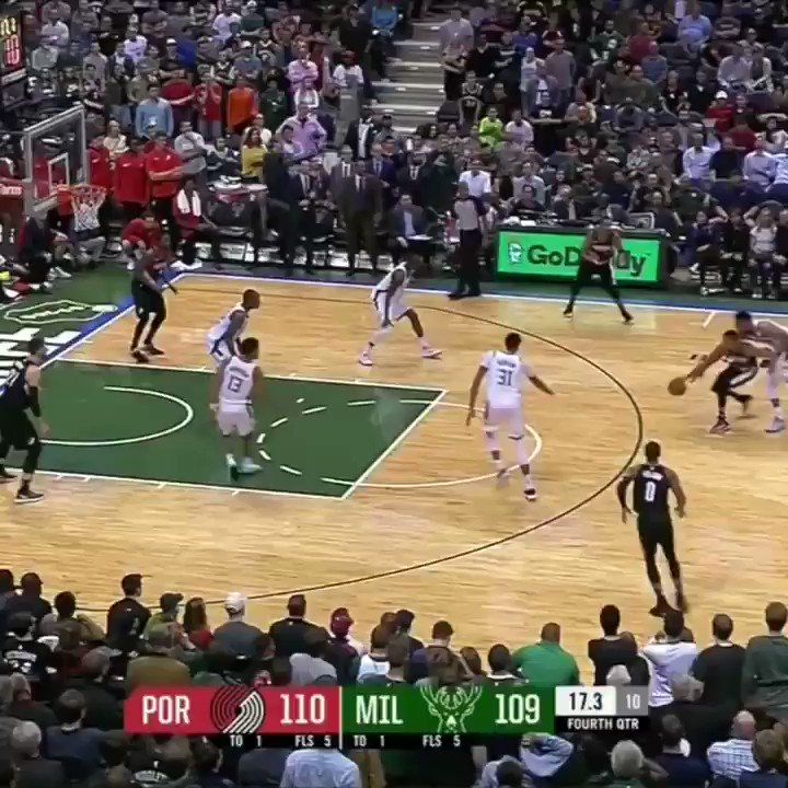 The Blazers had a lead and the ball with under 20 seconds to go...  Then Giannis happened. #SCtop10 https://t.co/pySDd76aKI