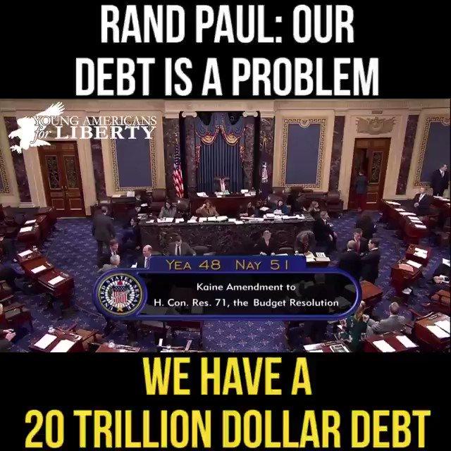Senator @RandPaul remains a lo debt remains