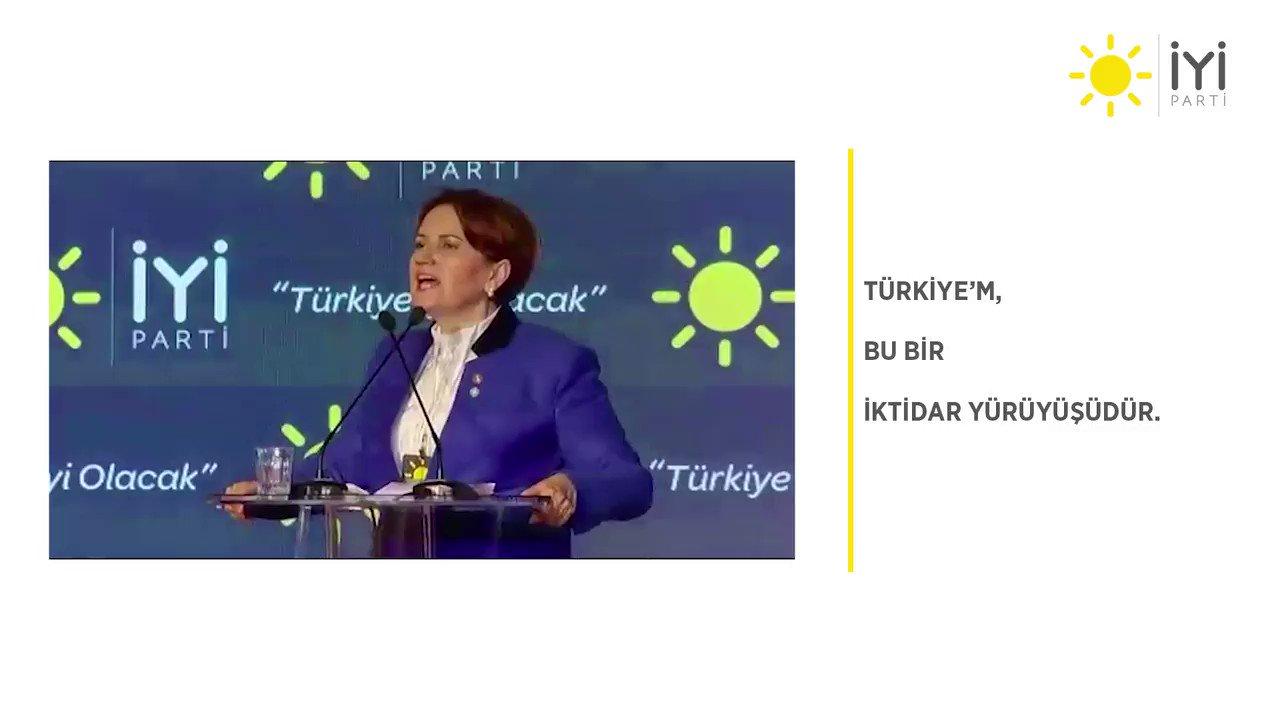 Türkiye'm, bu bir iktidar yürüyüşüdür! #İYİPARTİ https://t.co/Iq1dvXjndQ