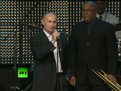 'Blueberry Hill' by FatsDomino was Putin's first music gig song